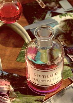 Vinegar & Brown Paper Etched Bottles   Distilled Happiness // writing