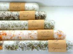 Assorted Bath Affirmations: A Beautiful Variation of Organic Bath Salts in Test Tubes - Truly Aesthetic