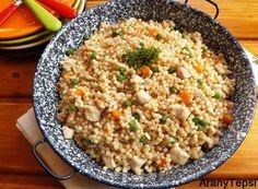 AranyTepsi: Tavaszi tarhonyás hús Paella, Fried Rice, Risotto, Fries, Ethnic Recipes, Food, Essen, Meals, Nasi Goreng
