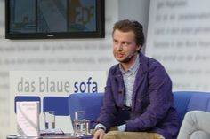 Benjamin Lebert auf dem Blauen Sofa der LBM 2012, via Flickr.