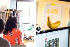 Post lindo da aLagarta sobre o nosso Bananada com Renata de estamparia. <3