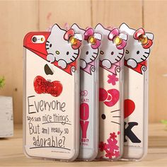"Cute cartoon hello kitty soft TPU Lanyard case cover for apple iphone6 plus 4.7"" #UnbrandedGeneric"