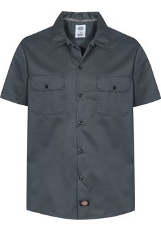 Dickies Work-Shirt-Slim - titus-shop.com  #ShirtShortsleeve #MenClothing #titus #titusskateshop