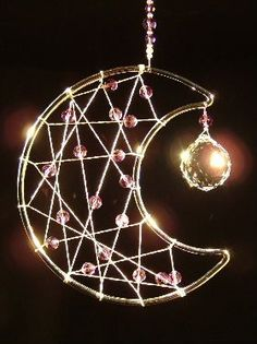 Dancing Crystals - Moon Dream catcher: