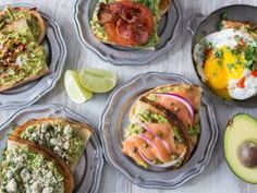The Subtle Art of Avocado Toast : Don't just spread avocado on bread and call it day. With a few extra ingredients, you can transform basic avocado toast into a breakfast masterpiece. Here are five topping ideas to set you on the right path, including a spicy, egg-topped rendition and a fun, open-faced twist on the classic BLT.