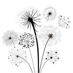 Dandelion Collection — Stock Vector © baoyan #11971643