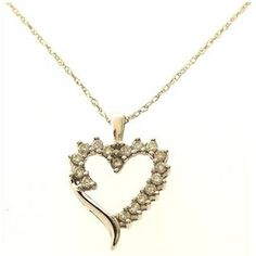 1.6 Gram 10K White Gold Necklace with Diamond Accent Heart Pendant  http://www.propertyroom.com/listing.aspx?l=9561214