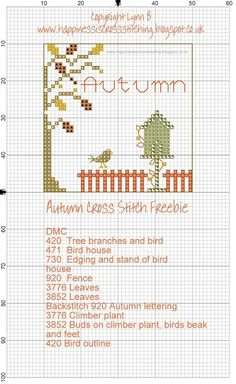 Happiness is Cross Stitching : Free Summer and Autumn Cross Stitch Patterns