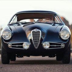 A 1955 Alfa Romeo 1900cc SS Zagato. Follow @gentlemansjournalautomotive for more amazing classic cars.