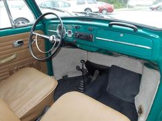 FOR SALE — L581 Java Green '67 Beetle. It's a sunroof!