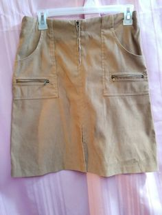 900821bfe9 Exact change women's skirt size 7 zipper front packets front (6) #fashion #