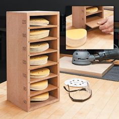 Sanding Disc Storage #woodworkingtools