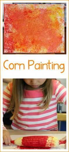 Corn Painting is a Fun, Easy Process Art Activity for Kids | Fun-A-Day!
