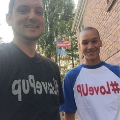 """""""@johnjayvanes #loveup I just received some new shirts and gave them all away time to get more. #LovePup"""""""
