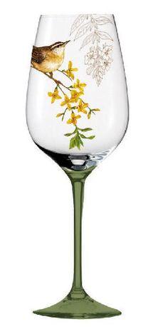 Aero Postale Hand-Painted Wine Glasses