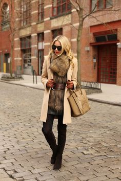 a1bc73024ae 10 Faux Fur Vest and Coat Outfits to Try This Winter