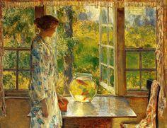 Bowl of Goldfish Frederick Childe Hassam - 1912