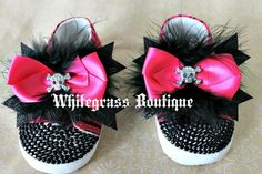 My first baby bling shoes in punk princess theme