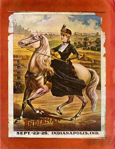 1890  Poster - Indiana State Fair   **Love going to the State Fair-if it's not too hot and humid! lol