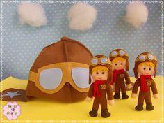 ☁ Chapéu e boneco aviador ✈