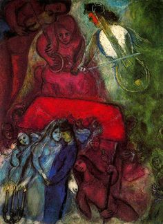 Chagall, Marc - The Wedding - Ecole de Paris - Abstract - Oil on canvas. #art #artists #chagall