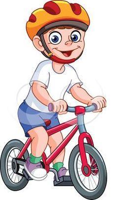 Kid on bicycle Royalty Free Vector Image - VectorStock Cartoon Mouths, Cartoon Clip, Cartoon Monsters, Kids Vector, Vector Free, Vector Stock, Leprechaun Girl, Bicycle Illustration, Illustration Kids