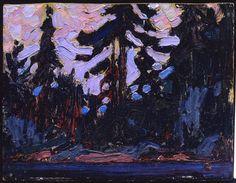 Tom Thomson Catalogue Raisonné | Nocturne, Algonquin Park, Summer 1915 (1915.53) | Catalogue entry