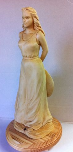 "Mike Pounders Wood Carving: ""Barefoot Girl"""