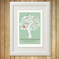 Show your family tree in your home with this unique print from The Little Red Elephant With this lovingly designed and personalised print.