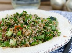 If you can't stand the heat of a hot stove, don't fret. Get into the kitchen and make a fresh, cooling salad like this vegetarian tabbouleh. Nutritional, flavorful and just plain good!