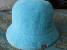 New Kangol Womens Designer COOL SKY BLUE FUZZY VERY SEXY ANGORA HAT L #Kangol #Bucket
