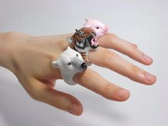 Animal Cling Ring Such great ideas for making a variety of animals. Must re-look at.