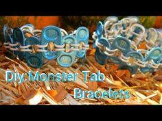 ▶ Diy:Monster Tab Bracelets - YouTube
