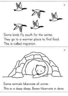 Winter is cold.There is snow on the ground. People live in the warm houses. - Winter is cold.There is snow on the ground. People live in the warm houses. What do animals do? Kindergarten Lesson Plans, Kindergarten Science, Kindergarten Worksheets, Animal Activities, Winter Activities, Preschool Activities, Preschool Winter, Teach Preschool, Animals That Hibernate