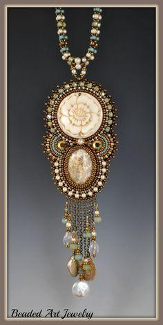 Bead+Embroidered+Beadwork+Beaded+Rose+Goddess+by+beadedartjewelry,+$378.00