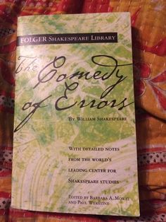 The Comedy of Errors by William Shakespeare Folger Shakespeare Library Paperback | eBay