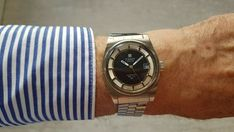 TISSOT Automatic PR 516 GL Vintage 70's ALL Stainless Steel Oversize 36 mm. All Stainless Steel, Vintage 70s, Bracelet Watch, Ebay, Accessories, Jewelry Accessories