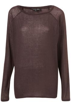 Two Tone Aubergine Sloppy Sweater