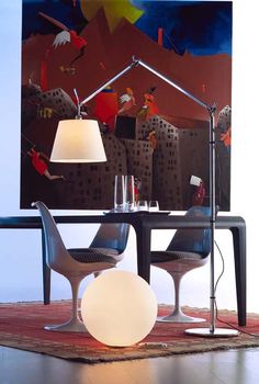 Iconic Lamps : #Tolomeo Mega Terra Floor Lamp, With Parchment Diffusor.  #design