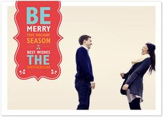 Cute Christmas card idea.