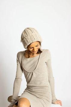 Cashmere/Alpaca Cap Beanie with Tassel Winter Hat with von amjasnet