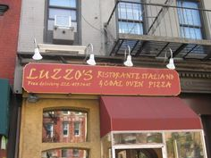 "Luzzo's  NYC  quote: ""Best pizza  I'veever had.""   211 1st Ave, New York 10003  (Btwn 12th & 13th St)"