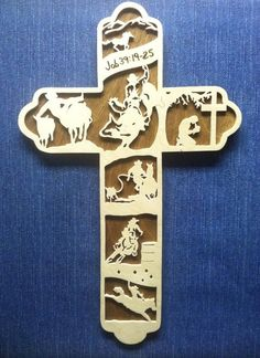 Rodeo Cross Cowboy Cross Christian Cowboy by BriarBeachDesigns