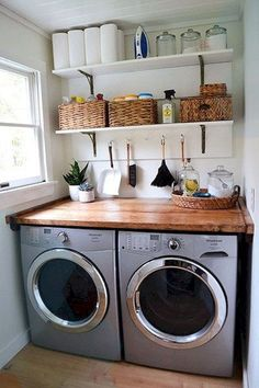 60 Functional Small Laundry Room Design Ideas - homixover.com,...