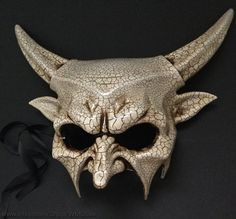 This cool masquerade ball mask pair is beautifully crafted from quality resin and finishe with layers of paper mache on the back for a sturdy quality and comfortable mask!  Perfect for a Burlesque Dance Prom Party, Masquerade Birthday party, Wedding and any special occasions!  Size: 6.75 wide ( 14.5 wide with horns) x 8 tall, it fits most of adults and teenagers Our US Standard shipping takes 5-7 business days International Standard shipping takes about two weeks Please contact us if you…