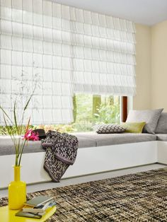 Hobbled Roman Shade in Colada and upholstery in Belcanto Window Coverings, Window Treatments, Traditional Interior, Free Interior Design, Best Vibrators, Fabric Shades, Country Chic, Roman Shades, Upholstery