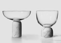 Glass and marble vessels by Lee Broom