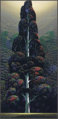 Eyvind Earle (1916-2000) born in New York City in 1916, Eyvind Earle has enjoyed a prolific career spanning 60 years.