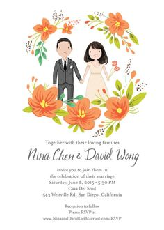 Cute wedding invitation collection vector wedding invitation cards announce your special day with a whimsical sweet wedding invitation you can also purchase rsvp thank you or other wedding suite cards ala carte stopboris Gallery