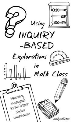 How to Structure Investigation Lessons in Middle & High School Math Classes: Inquiry-Based Explorations / Discovery Learning Math Tutor, Math Teacher, Math Classroom, Teaching Math, Classroom Ideas, Teaching Geometry, Flipped Classroom, Teaching Spanish, Teacher Stuff